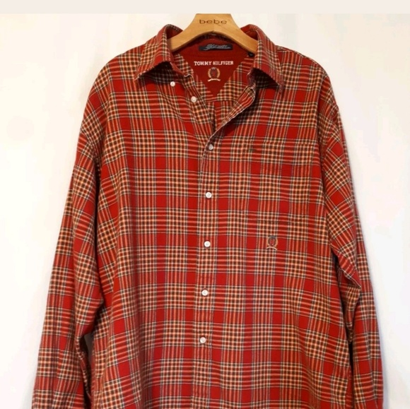 9853c8bb Tommy Hilfiger Shirts | Vintage Flannel Red Plaid Shirt | Poshmark